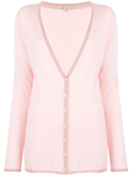 Morgan Lane Pippa button-down cardigan in pink