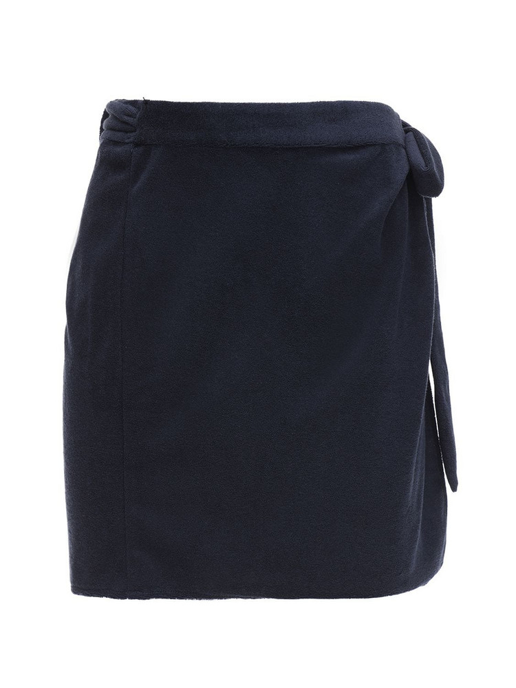 CIAO LUCIA Ponza Cotton Terry Mini Skirt in navy