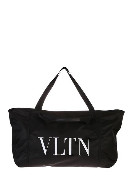 Valentino Garavani Logo Print Nylon Duffle Bag