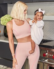 top,baby pink,khloe kardashian,workout,workout leggings,sportswear,sports bra,instagram