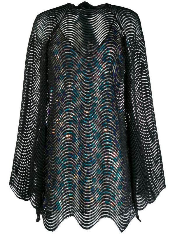 Marco De Vincenzo layered mini dress in black