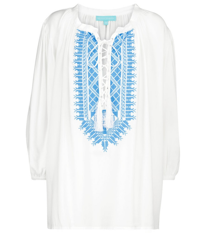 Melissa Odabash Exclusive to Mytheresa – Livia embroidered top in white