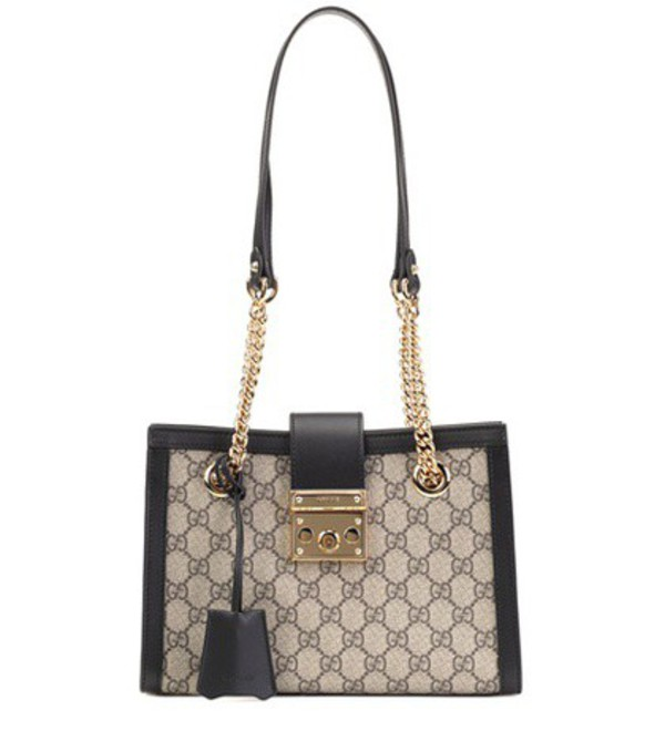 Gucci Padlock GG Small shoulder bag in brown