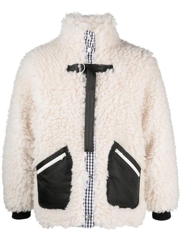 Sandy Liang Seven sherpa feece jacket in neutrals