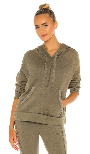Free People X FP Movement Work It Out Hoodie in Army