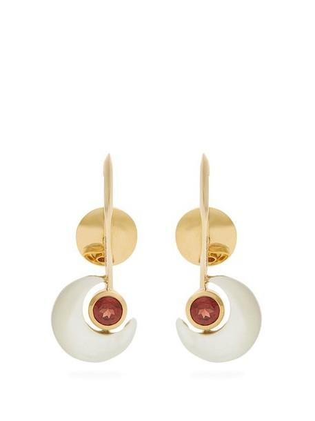 Ara Vartanian - X Kate Moss Garnet & Gold Earrings - Womens - White