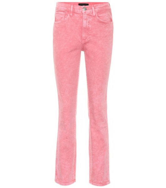 3x1 Stevie high-rise straight jeans in pink