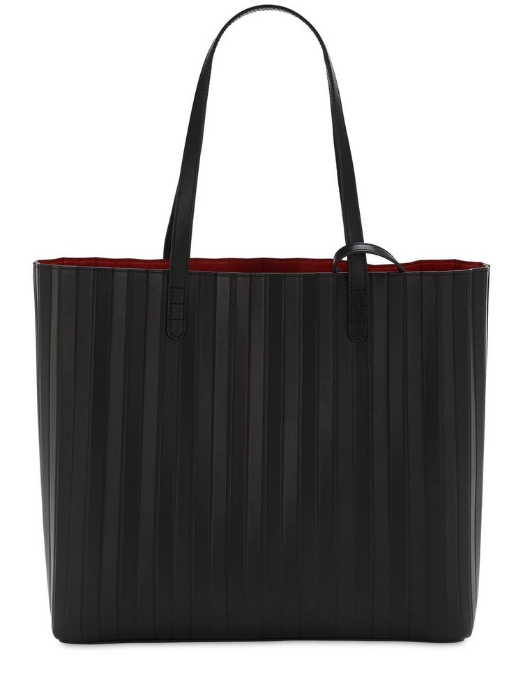 MANSUR GAVRIEL Pleated Leather Tote Bag in black