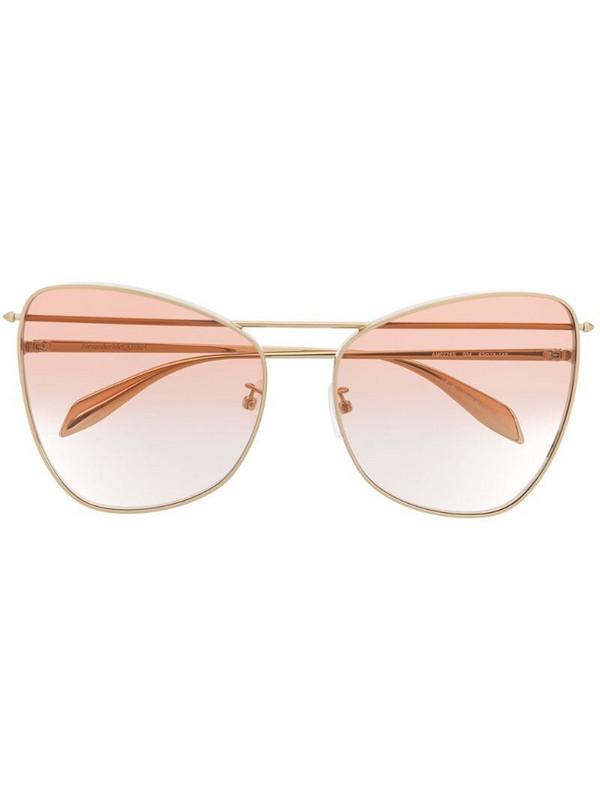 Alexander McQueen Eyewear AM0228S 004 sunglasses in gold