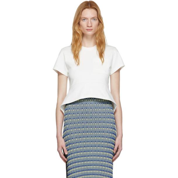 Proenza Schouler Off-White Peplum T-Shirt