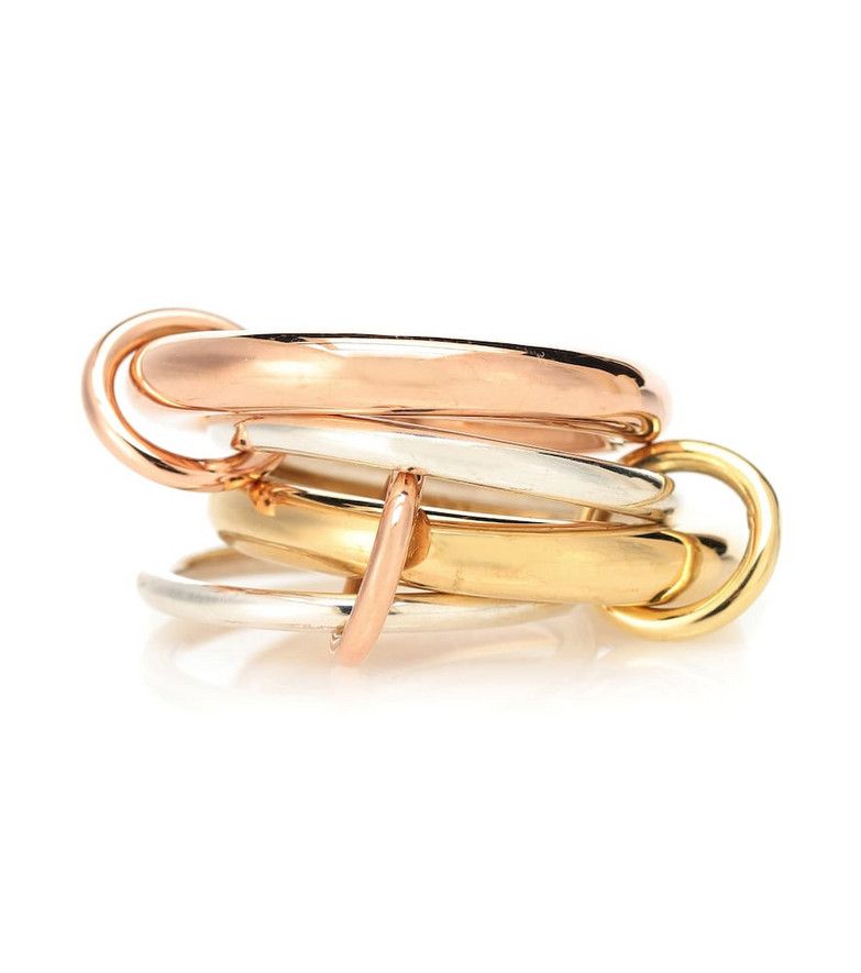 Spinelli Kilcollin Cici Rose 18kt gold and sterling silver linked rings
