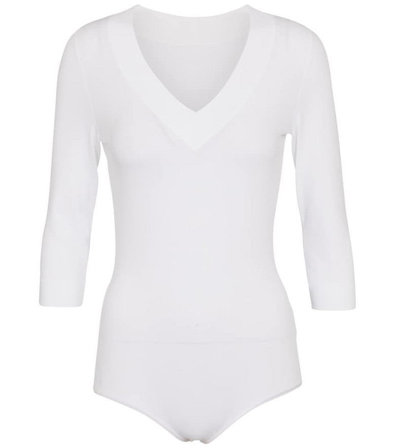 Alaïa Knit bodysuit in white