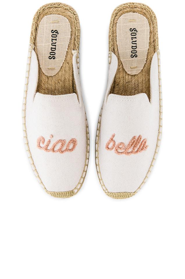 Soludos Ciao Bella Mule in white