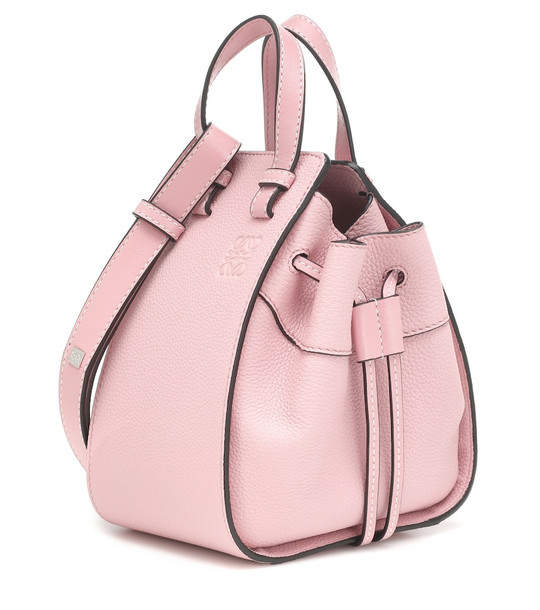 Loewe Hammock Drawstring Mini shoulder bag in pink
