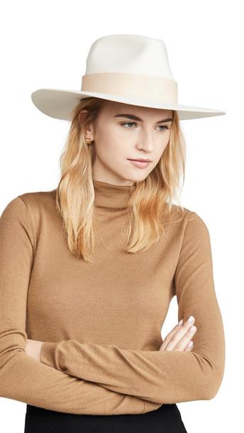 Janessa Leone Carter Hat in white