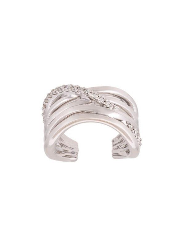 Alinka 'Zoya' diamond pinkie ring in metallic