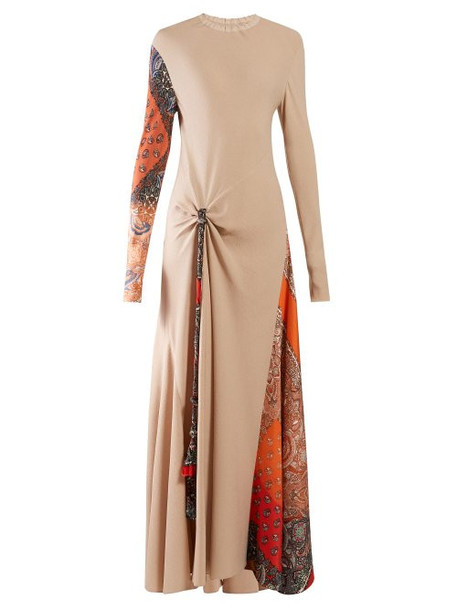 Chloé Chloé - Paisley Print Insert Crepe Maxi Dress - Womens - Beige Multi