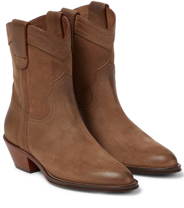 Saint Laurent Eastwood suede ankle boots in brown