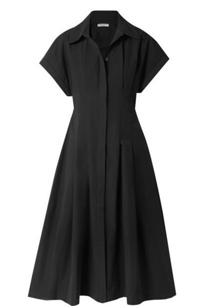 Three Graces London - Alette Cutout Cotton-poplin Midi Dress - Black