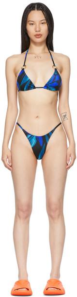 Louisa Ballou Black & Blue Mini Ring Bikini