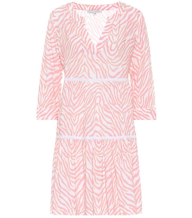 Heidi Klein Cape Town zebra-print minidress in pink