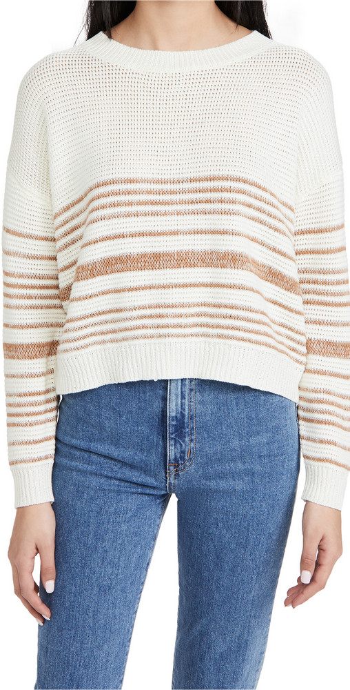 Line & Dot Lucy Sweater in taupe / ivory