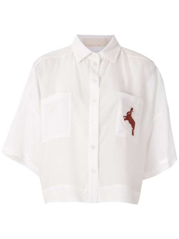 LE SOLEIL D'ETE Yeda embroidered shirt in white