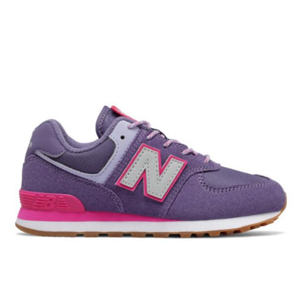 New Balance 574 Kids' Girls Pre-School Lifestyle Shoes - Purple/Pink (PC574PAE)