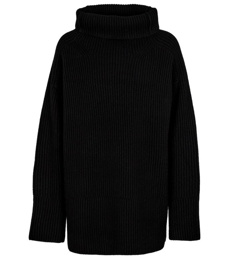 JOSEPH Turtleneck wool sweater in black
