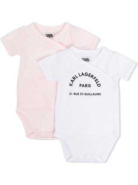 Karl Lagerfeld Kids logo-print 2 pack romper - Pink