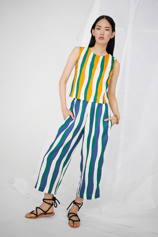 WHIT Luna Top in Wavy Stripes *Pre-order for April Delivery*
