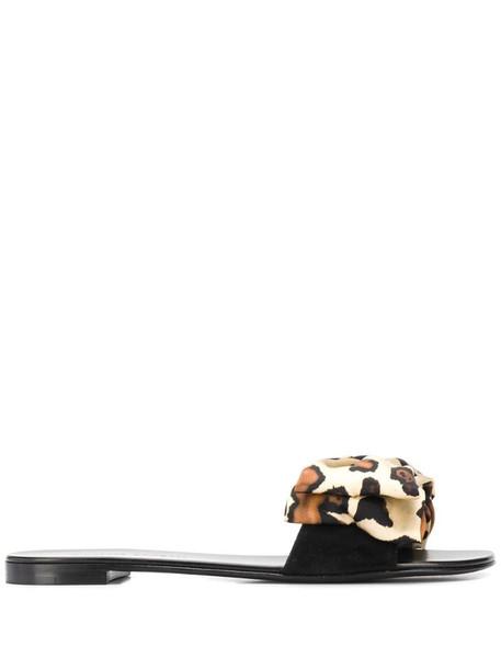 Giuseppe Zanotti bow-detail slides in black
