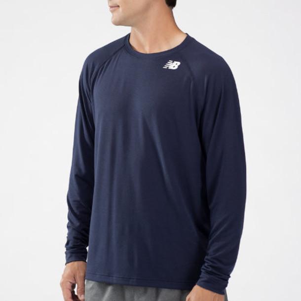New Balance 3107 Men's Long Sleeve Tech Shirt - Navy (TMMT3107TNV)