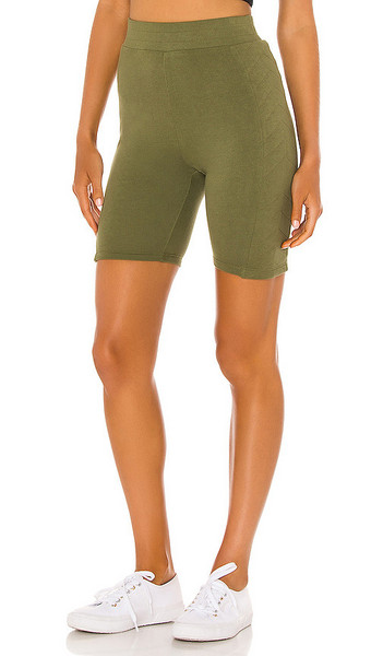 Lovers + Friends Lovers + Friends Ava Biker Short in Olive in green