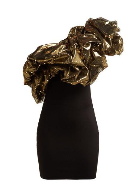 Alexandre Vauthier - One Shoulder Tulle Mini Dress - Womens - Black Multi
