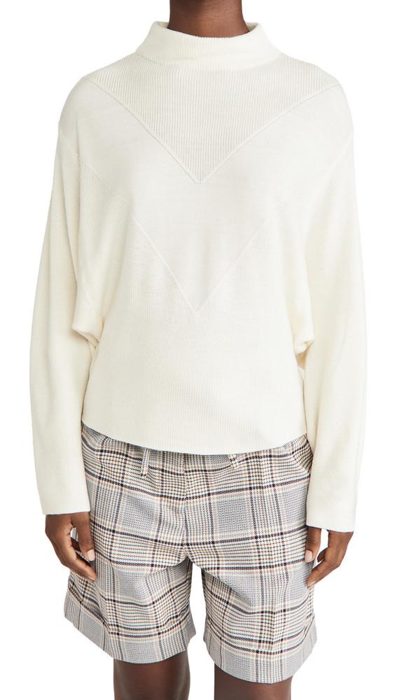 Line & Dot Madeline Mock Neck Sweater in ivory