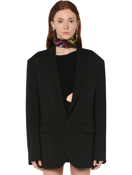 DSQUARED2 Wool Cady Jacket in black