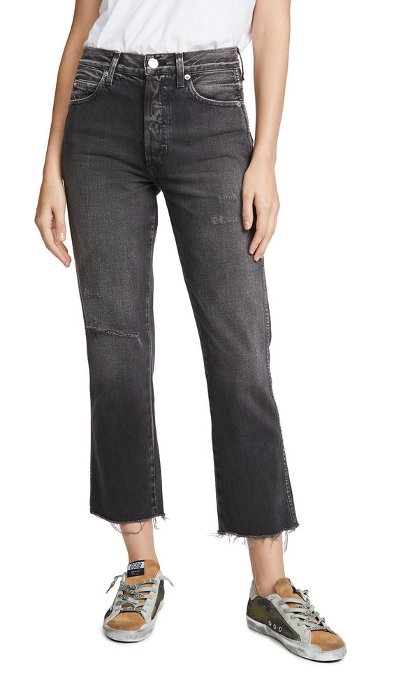 AMO Loverboy Relaxed Straight Jeans in black