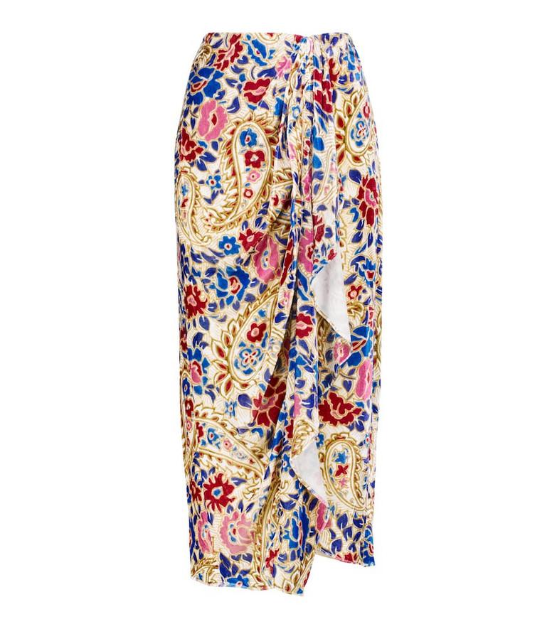 Isabel Marant Breena floral wrap midi skirt