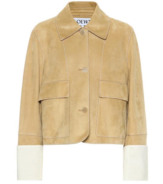 Loewe Suede jacket in beige