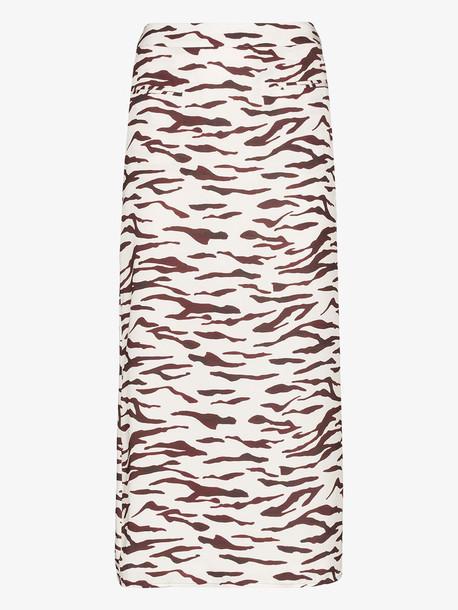 Rejina Pyo Mina Tiger Print Midi Skirt