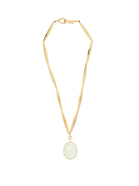 Tohum - Theia Resort Crystal & 24kt Gold-plated Necklace - Womens - Gold