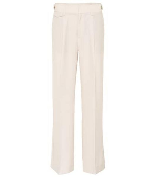 Vince Mid-rise wide-leg pants in beige / beige