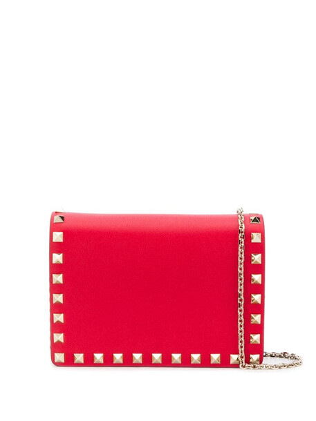 Valentino Garavani Rockstud shoulder pouch in red