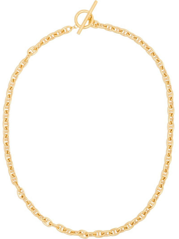 All Blues Pill polished gold vermeil necklace