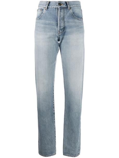 Saint Laurent high-rise straight-leg jeans in blue