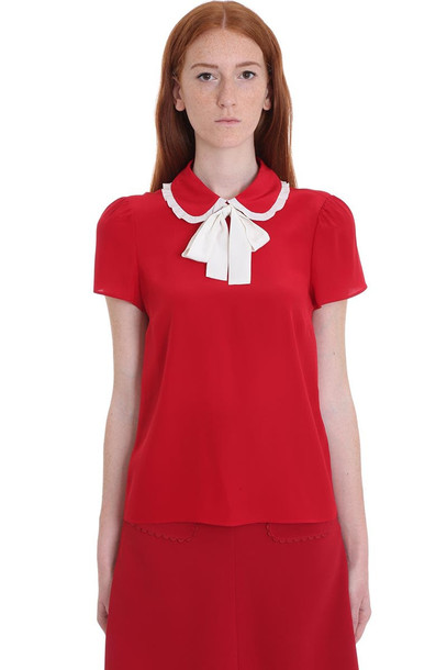 RED Valentino Shirt In Red Silk