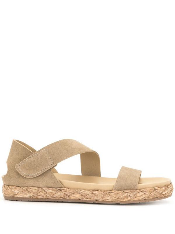 Pedro Garcia open-toe raffia-sole sandals in brown