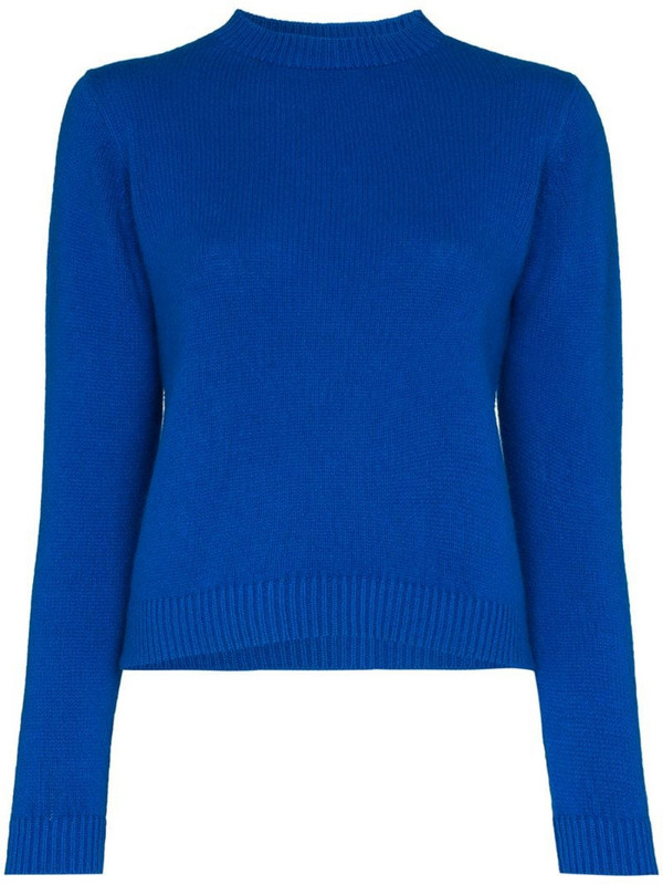 The Elder Statesman cropped cashmere sweater in blue