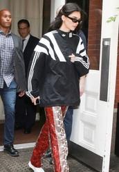 jacket,adidas,kendall jenner,black and white